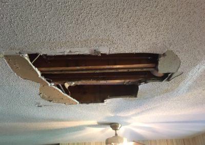 Ceiling Repair – Leak Damage